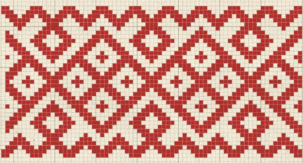 Обережная вышивка славян c использованием Ингуз
