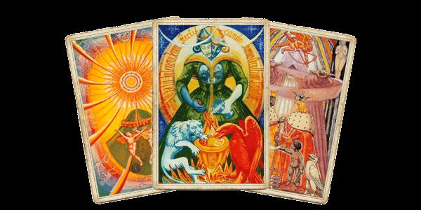 Таро Тота - Солнце, Искусство, Влюбленные
