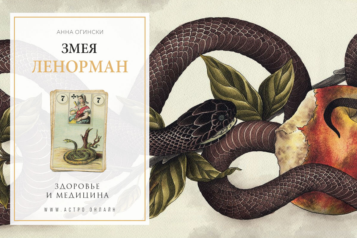 Здоровье и медицина по карте Змея в Ленорман