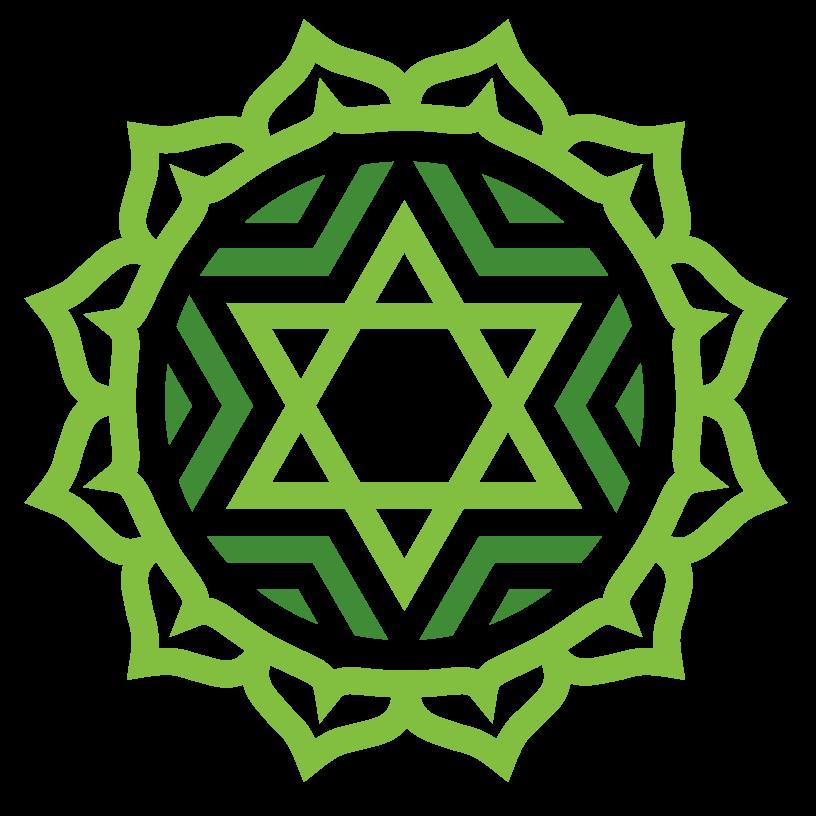 В Индии гексаграмма - символ сердечной чакры