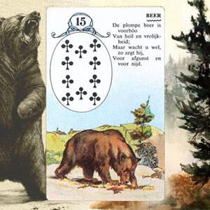 Коллаж карты Медведь Ленорман