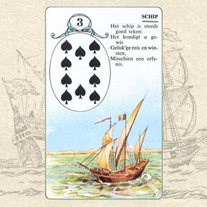 Коллаж карты Корабль Ленорман