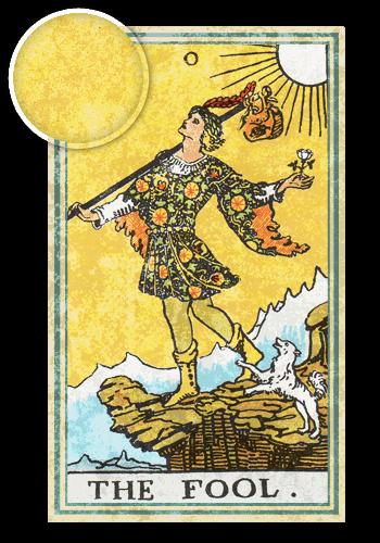 Таро Дурак: Желтый цвет