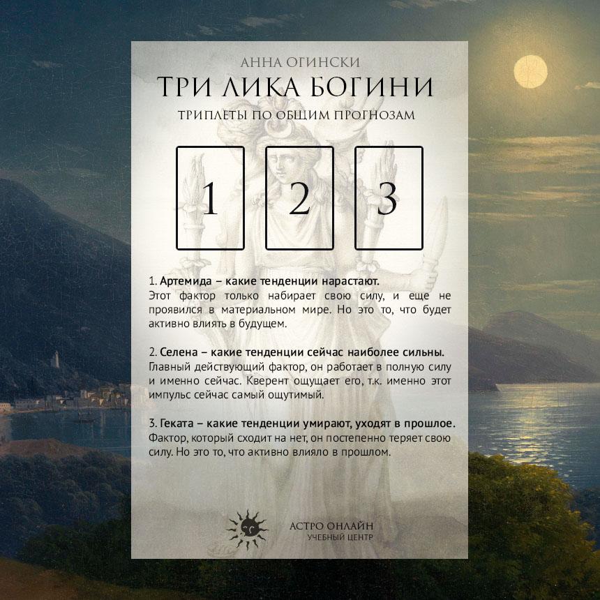 Расклады на 3 карты - Три Лика Богини