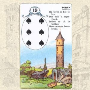 Коллаж карты Башня Ленорман